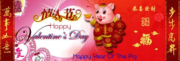 2019 Valentine+Chinese New Year Banner