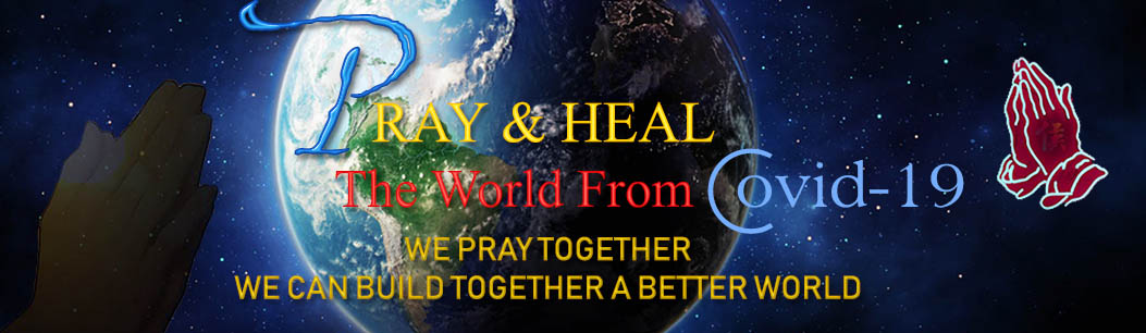 Prayer for the world banner